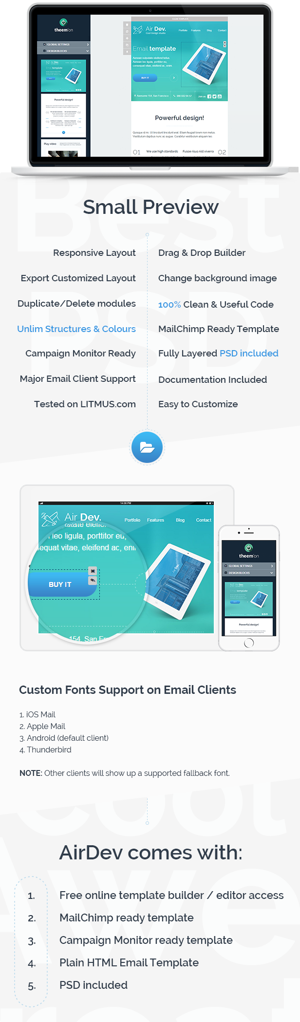 AirDev- Corporate Email Template + Builder Access