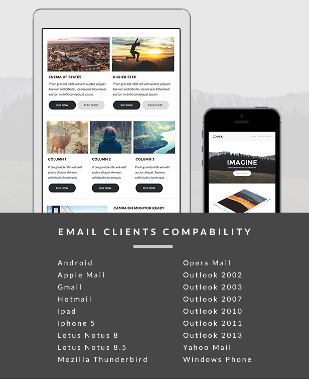Zooey - Creative Email Template + Builder Access