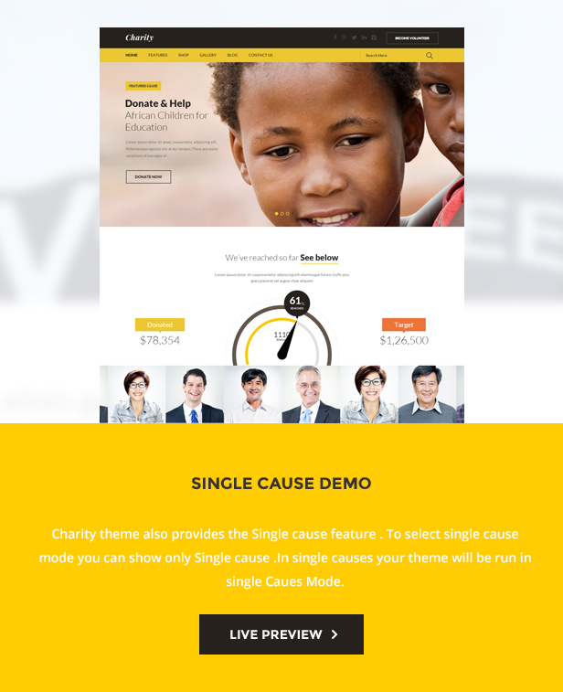 Charity: Nonprofit/NGO/Fundraising WordPress Theme
