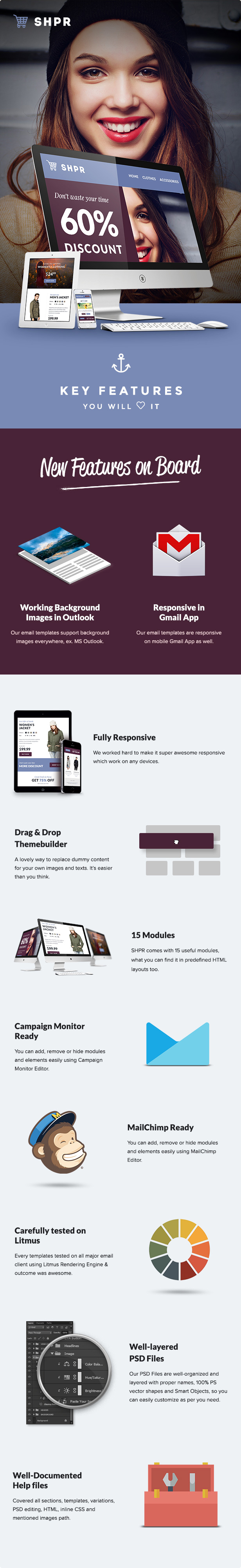SHPR - E-commerce Announcement Email Template