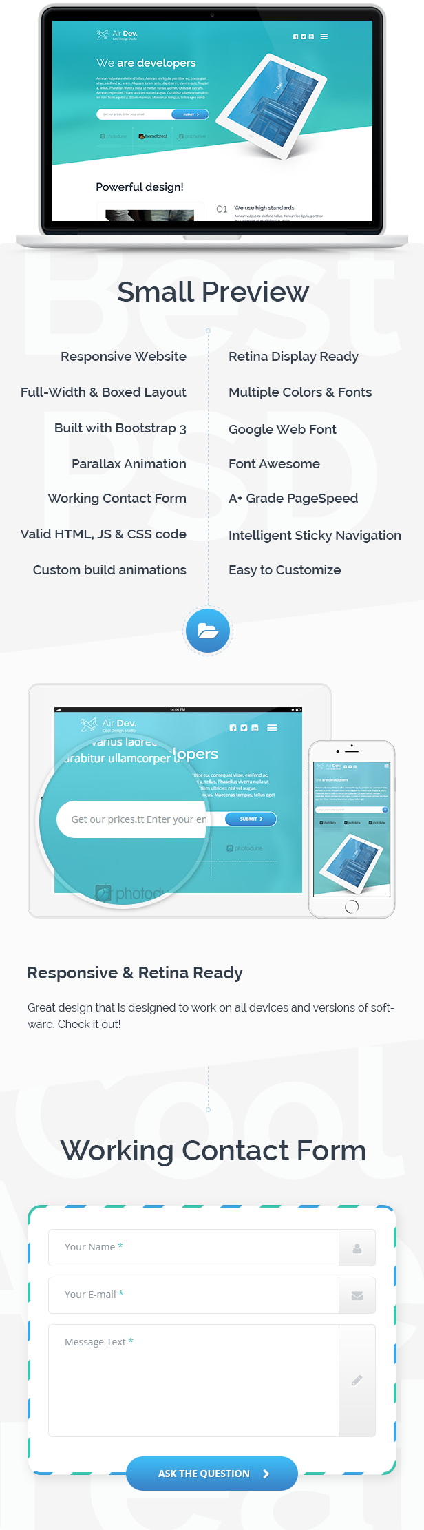 Air Dev - Responsive Website Template