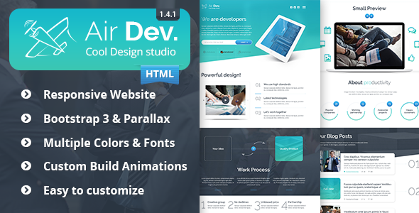 Elizium: Parallax HTML Website Template