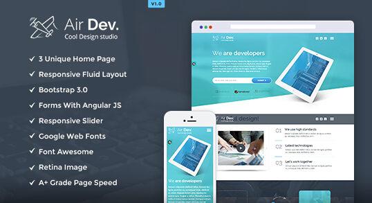 AirDev – Responsive Website Template