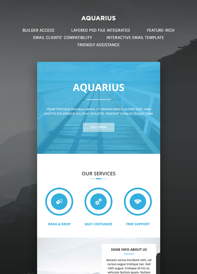Aquarius Email Template Buy Premium Aquarius Email Template