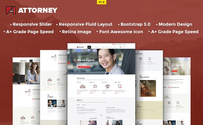 Attorney HTML5 Template