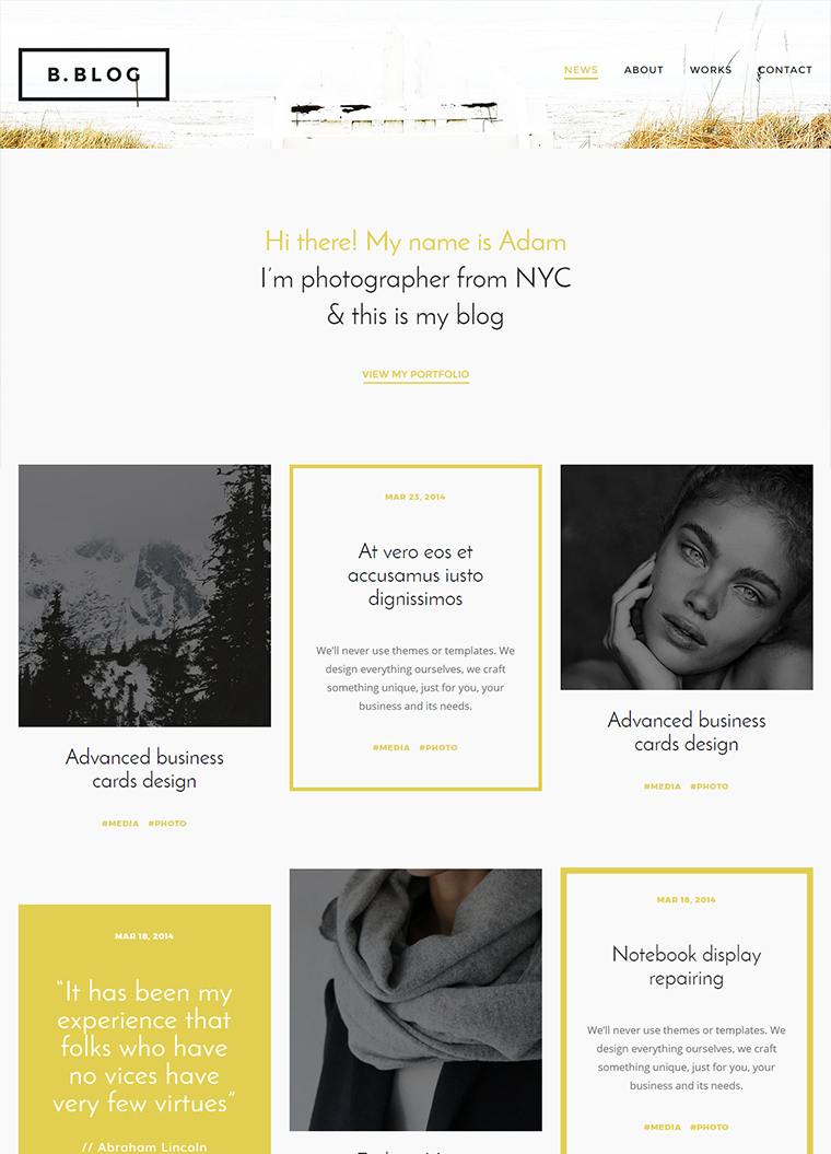 B- Blog – HTML Blog Template