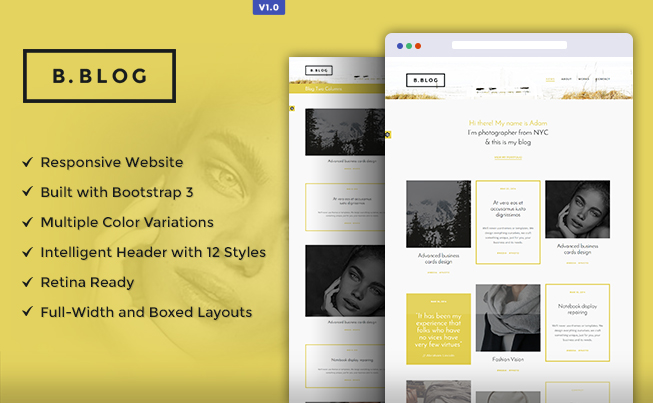 B - Blog - Professional HTML Template