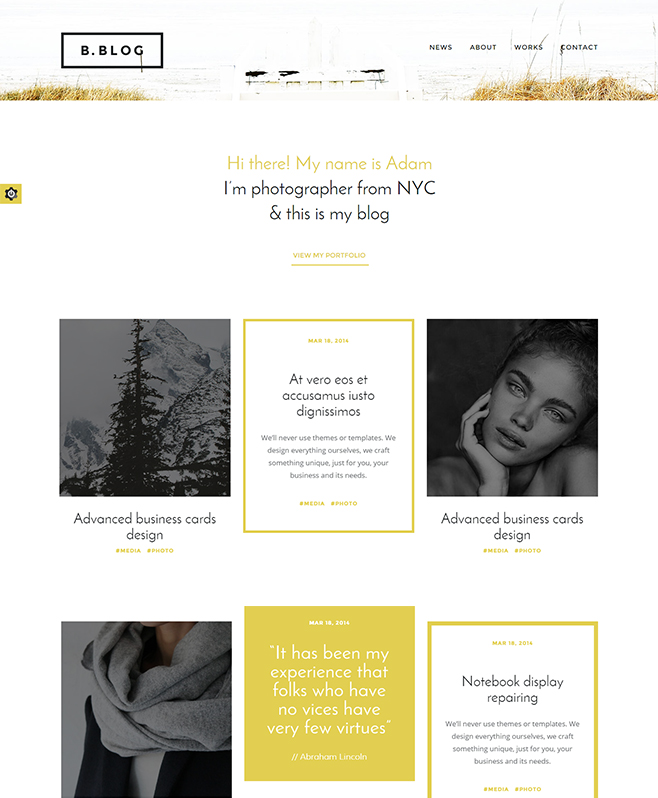 Presenting Worthy Attributes With Professional B-Blog HTML Template