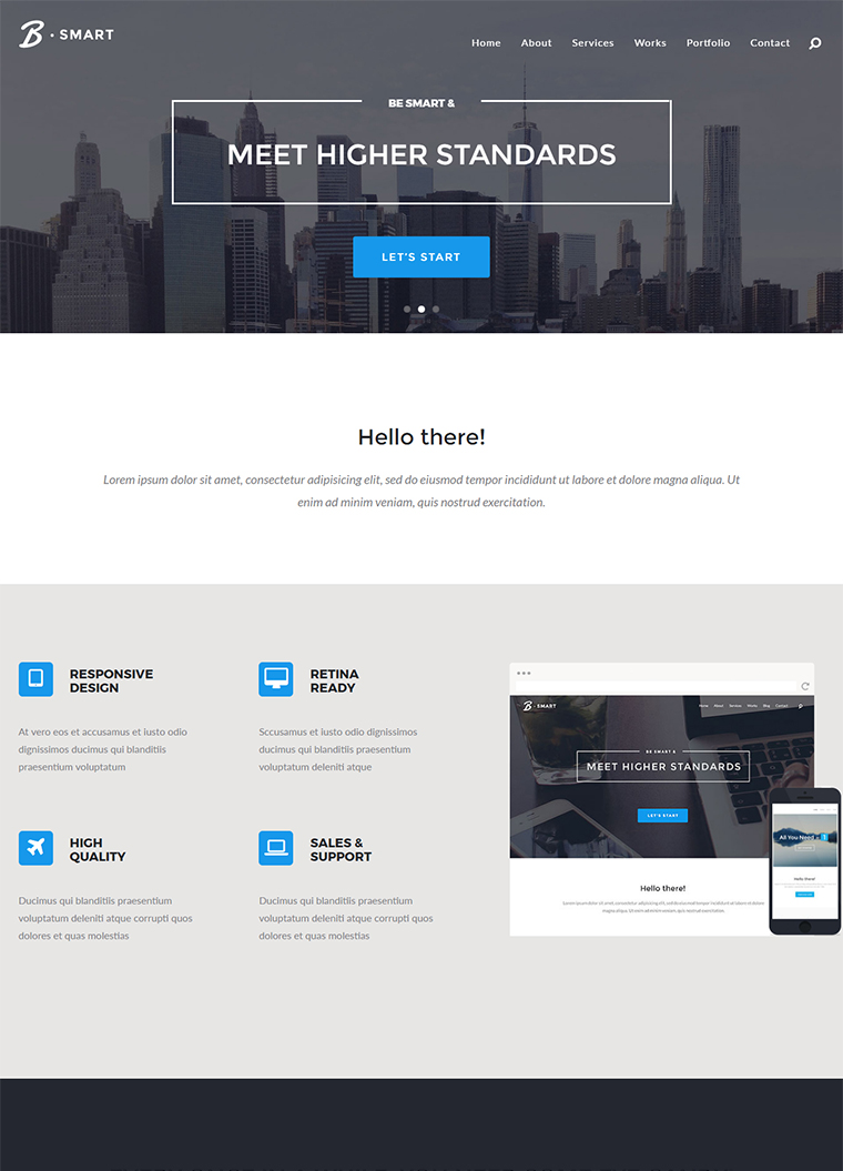 B-Smart: Multi-Purpose HTML5 Template