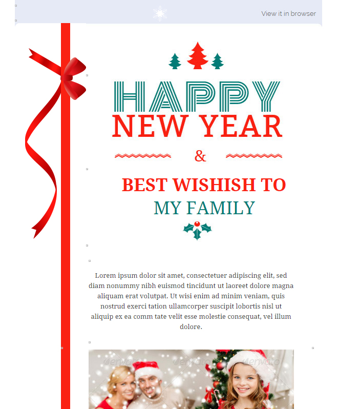 Customized Features with Best Wishes Email Template To Play