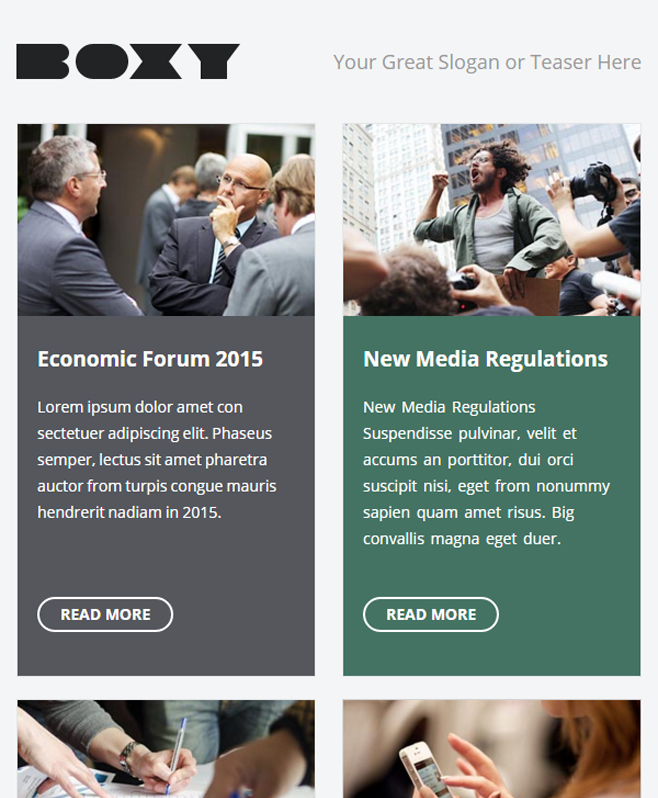 Reap Benefits and Drive Business Traffic With Boxy Multipurpose E-Template