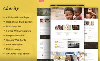 Charity Fundraising HTML Template