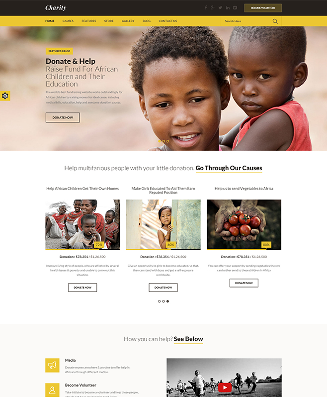 Experts In Developing Special Features Embedded Charity HTML Template