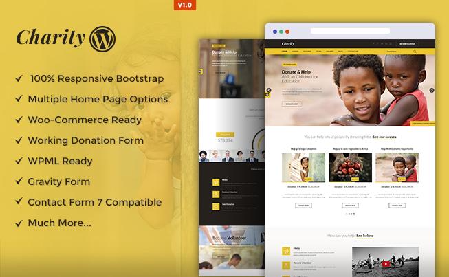Charity WordPress Theme full screenshot