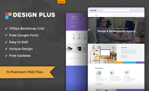 Design Agency PSD Template