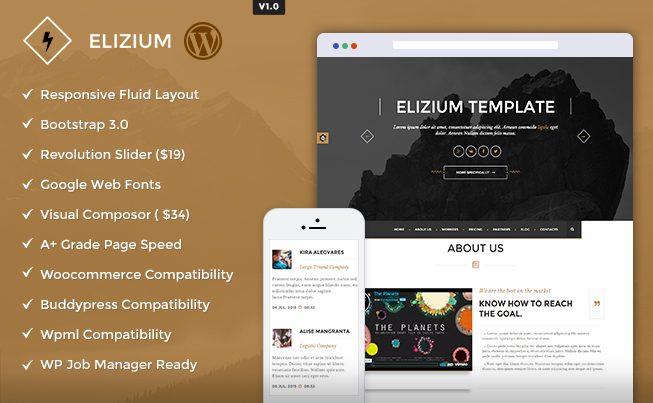 Elizium WordPress Theme