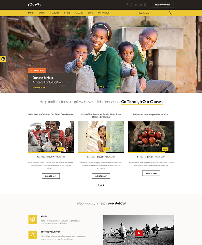 Providing WordPress Theme Suitable for Charitable Trusts