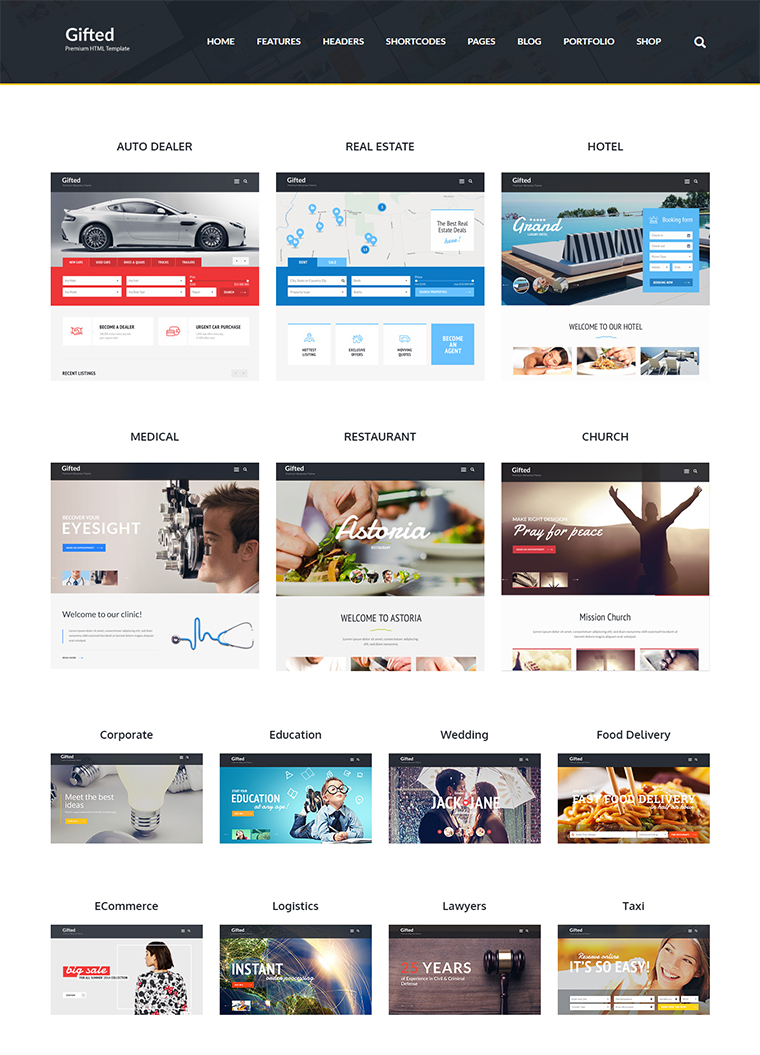 Gifted Html5 Website Template Buy Premium Gifted Html5 Website Template