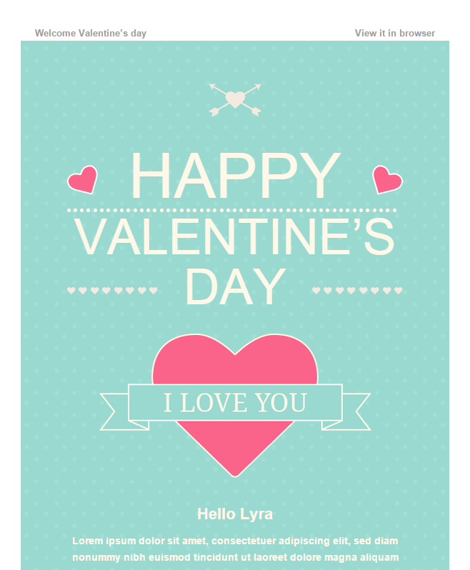 Enjoy Litmus Tested Happy Valentine Wishes Email Template