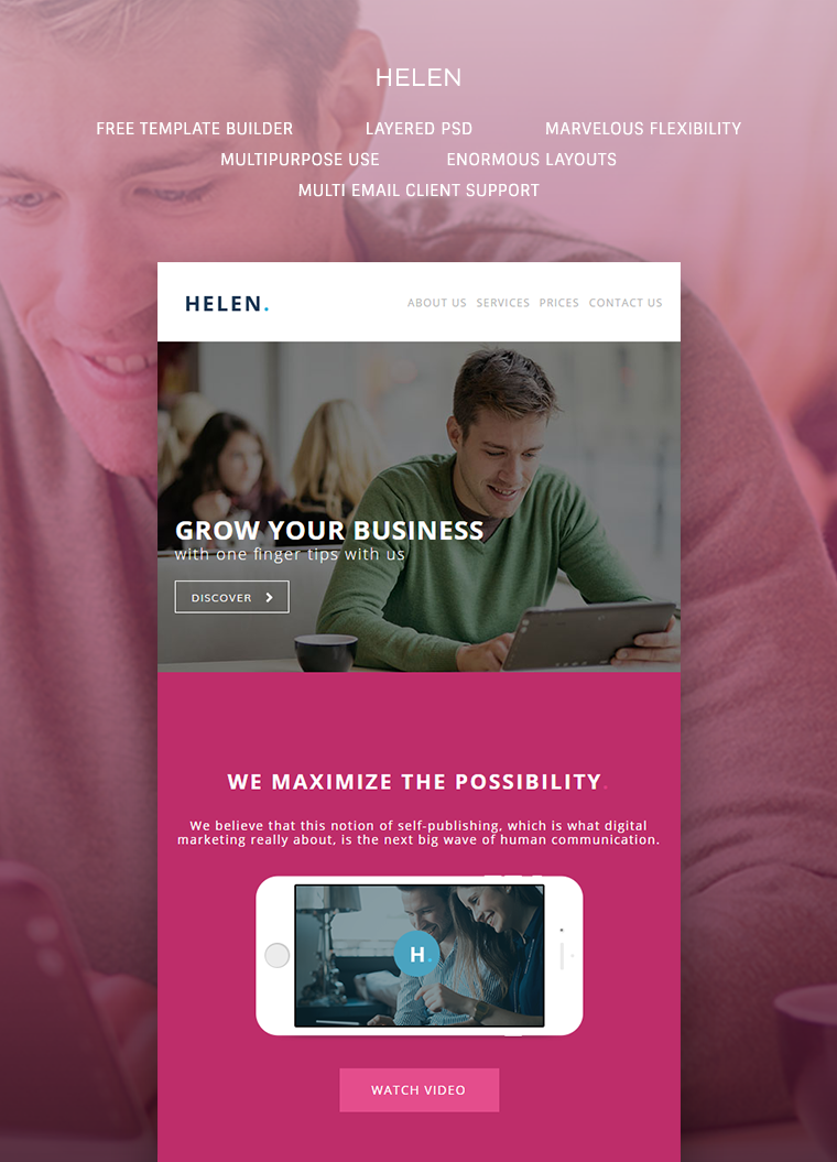 Helen – Corporate Email Template