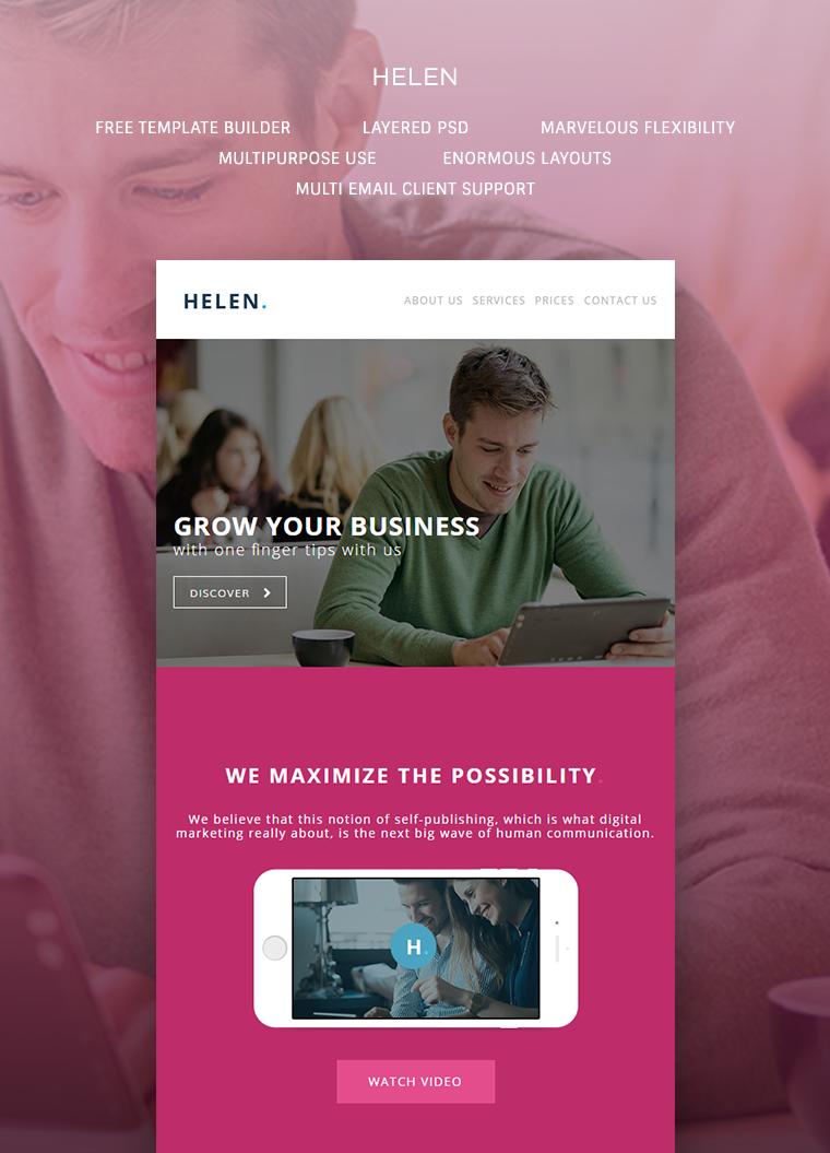 Helen - Corporate Email Template: Buy Premium Helen - Corporate ...