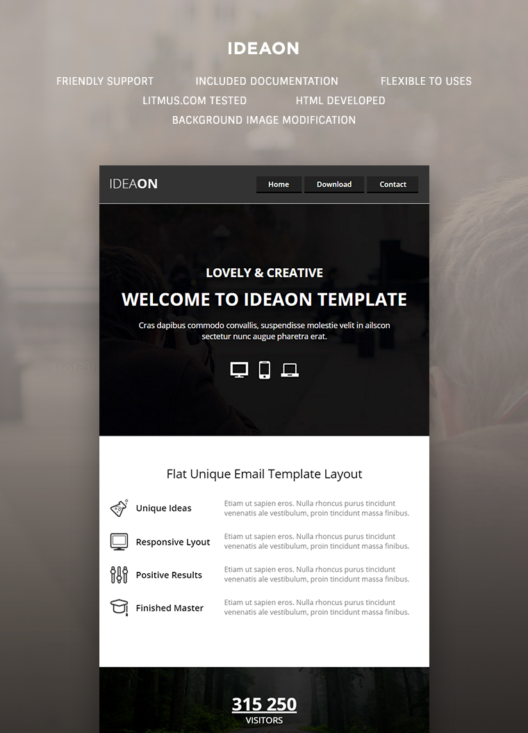 IdeaOn Email Template