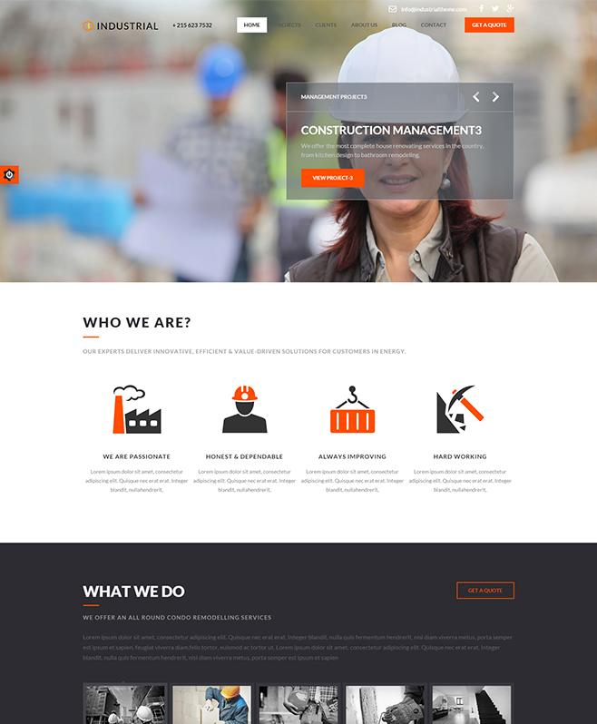 Exemplarily Attributed Industrial HTML5 Template For Architect Firms