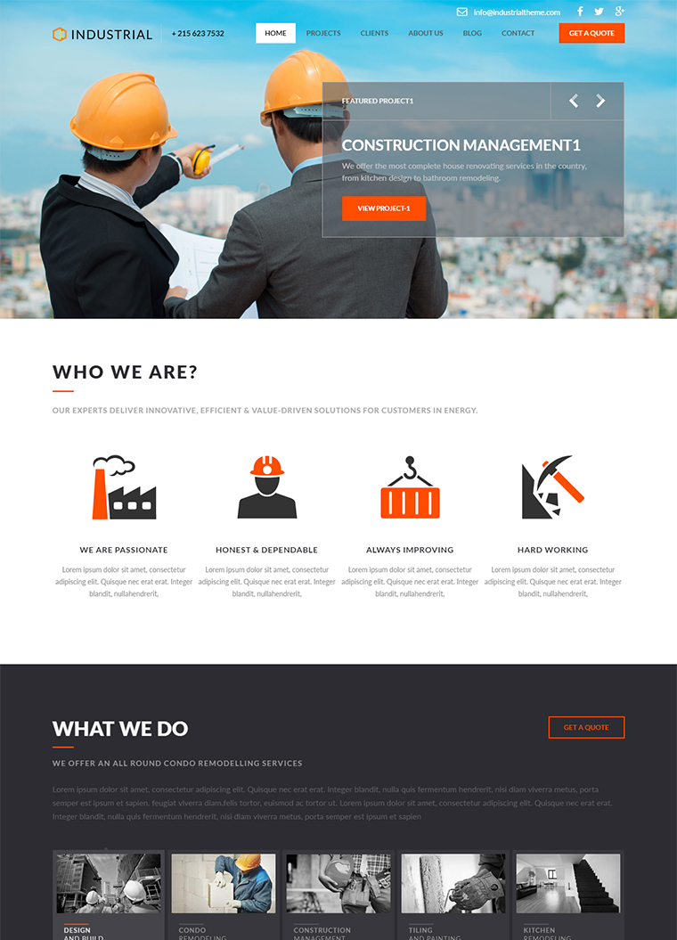industrial html5 template buy premium industrial html5 template