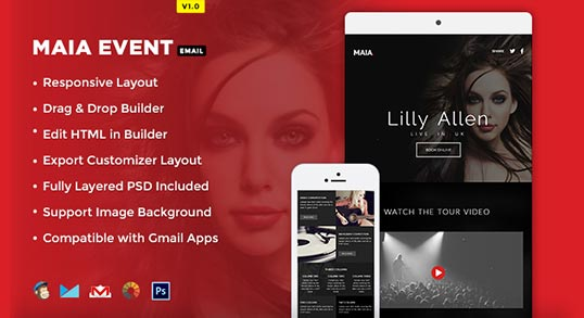 maia event e newsletter template buy premium maia event e