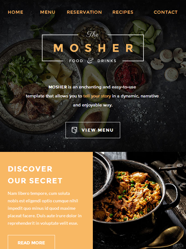 catering email template - mosher restaurant email template buy premium mosher