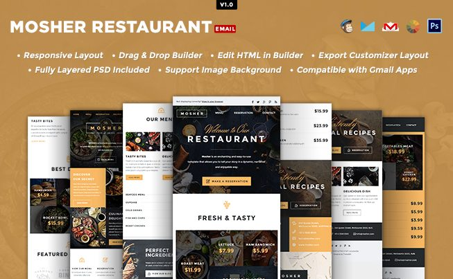 Mosher Restaurant Email Template