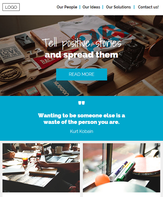 Offering Multipurpose HTML email Template With Neat Code & Responsive Layout