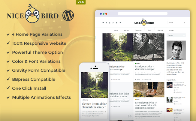 NiceBird WordPress Theme