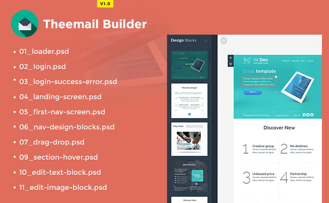 Theemail Builder for HTML Pages