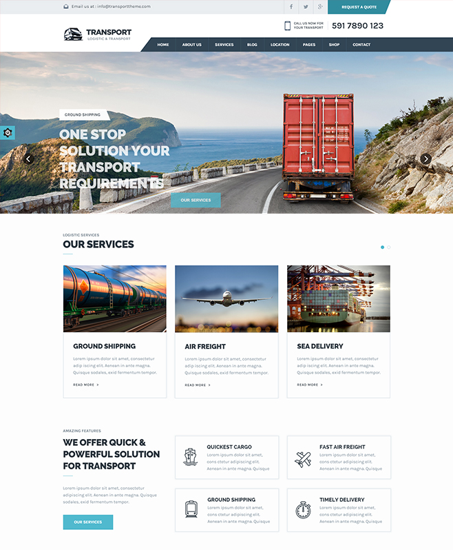 transport html5 template buy premium transport html5 template