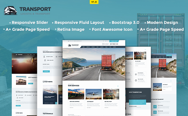 Transport Responsive HTML5 Template