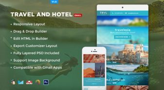 Travelesia: Responsive Email Template
