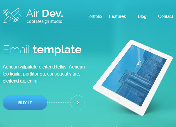 airdev email template buy premium airdev email template theem 39 on