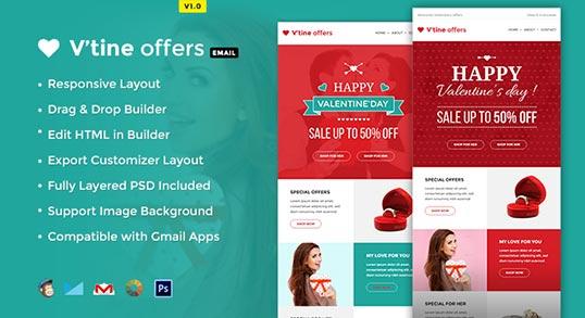 Valentine EMarketing Template Buy Premium Valentine EMarketing - Marketing layout templates