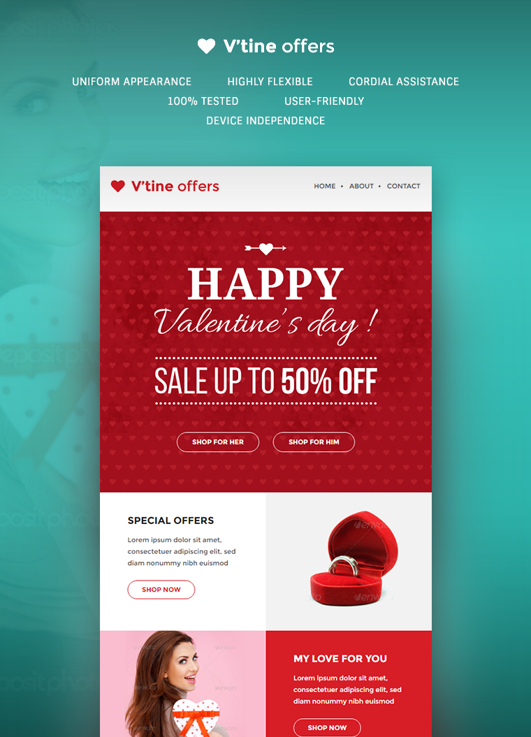 Valentine E-Marketing Template: Buy Premium Valentine E-Marketing ...