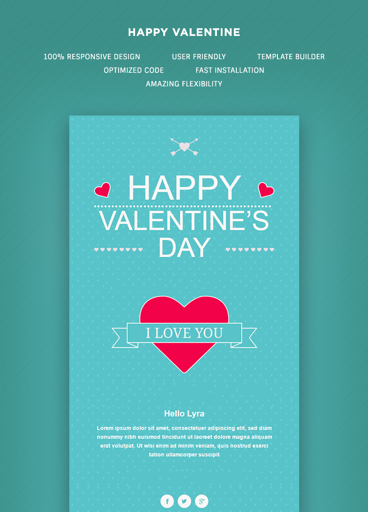 Valentine Email Template