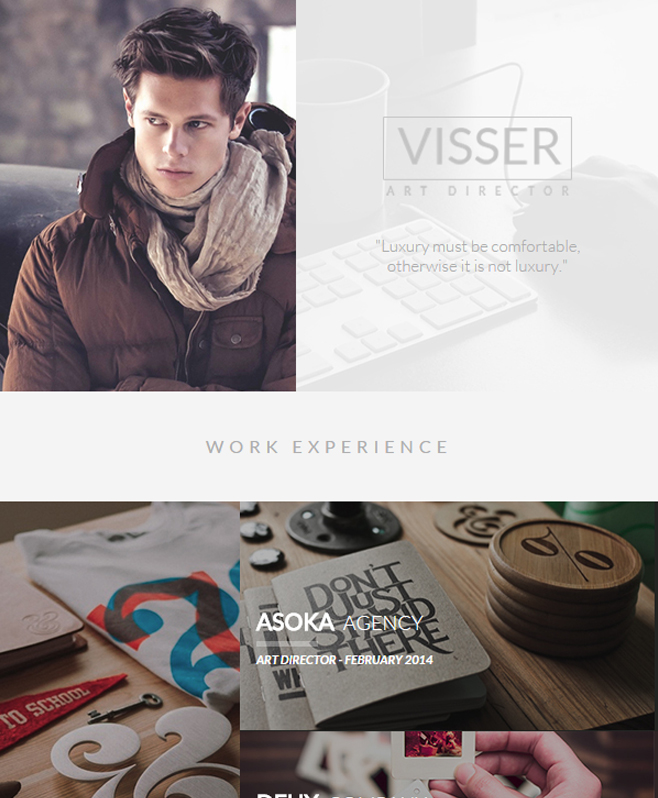 Visser - Professional CV Responsive HTML Template With Exclusive Features