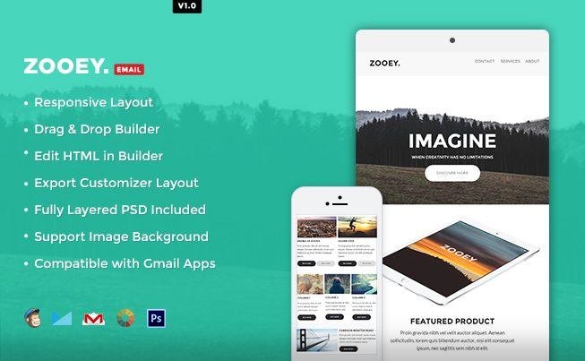 Zooey HTML Email Template