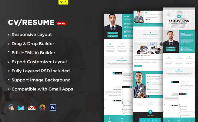 Cvresume email template