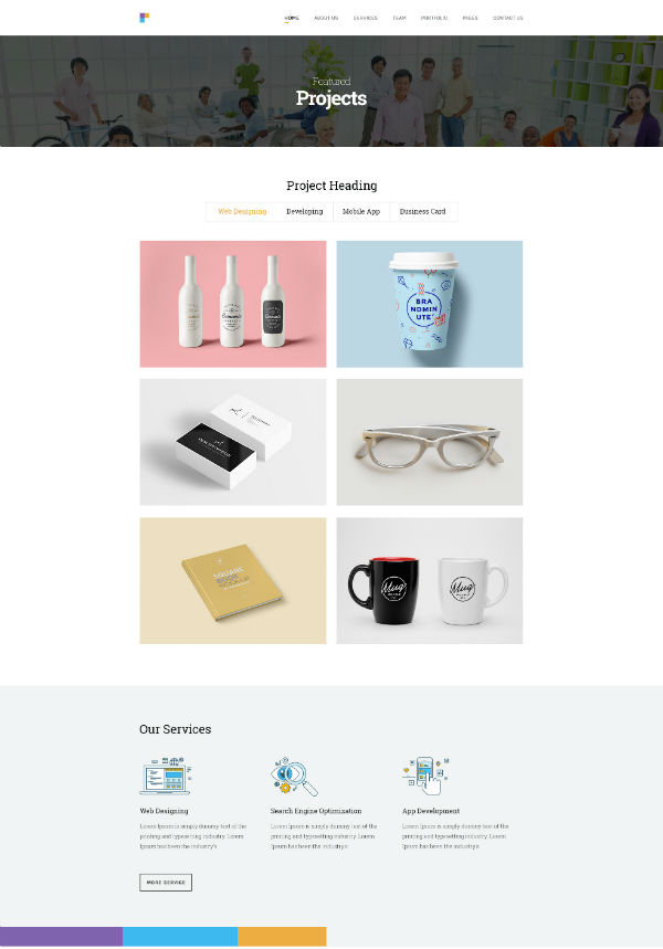Incredibly Designed PSD Template For Diverse Businesses
