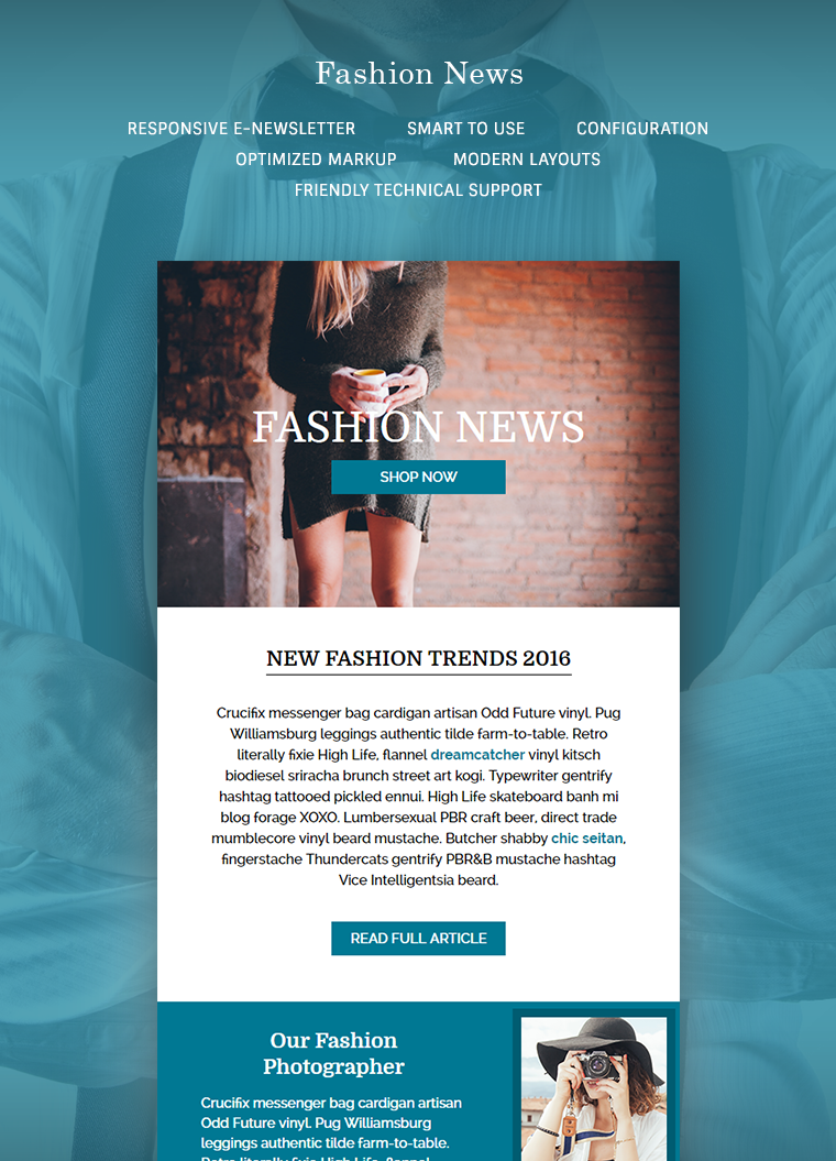 Fashion News Email Template Buy Premium Fashion News Email Template - E news template