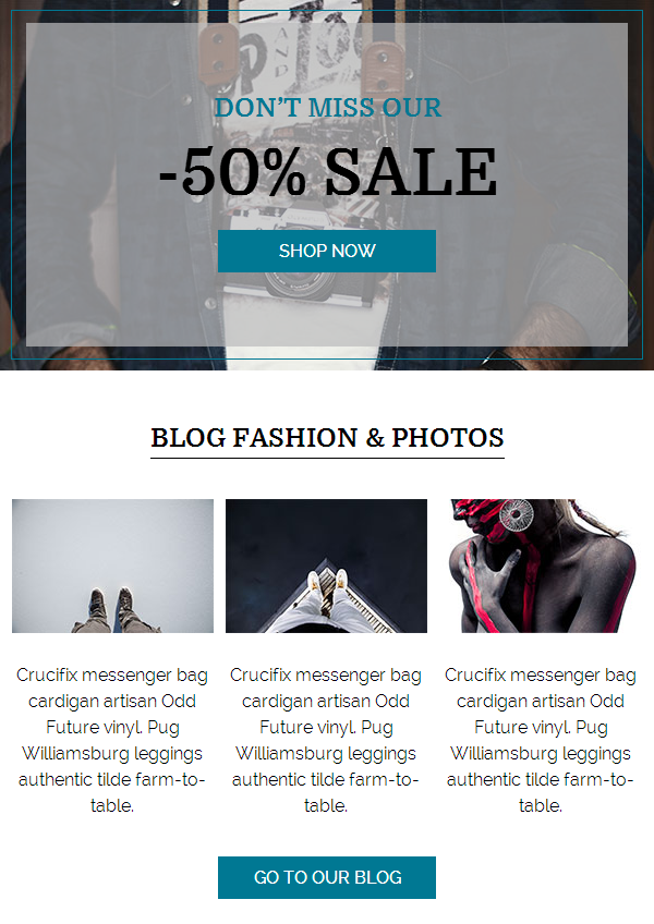 Fashion News Email Template Buy Premium Fashion News Email Template - Monthly email newsletter template