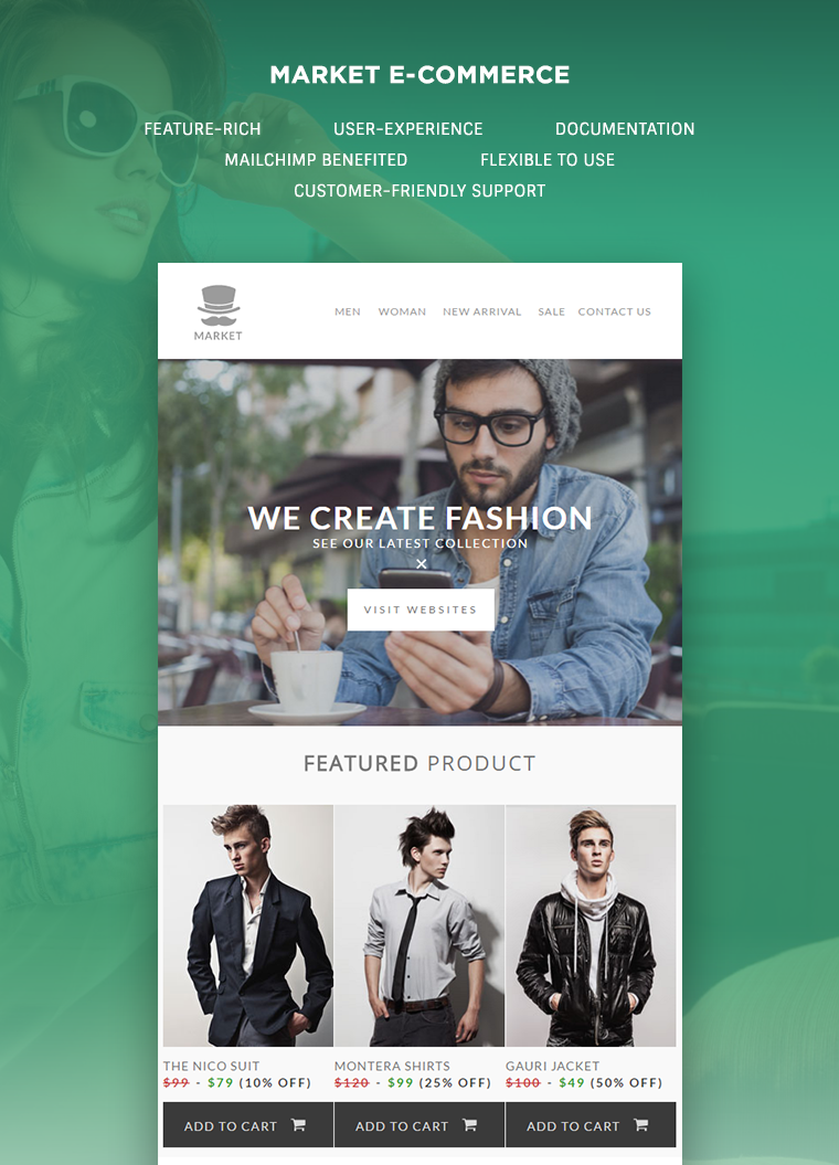 market e commerce newsletter template buy premium market e commerce