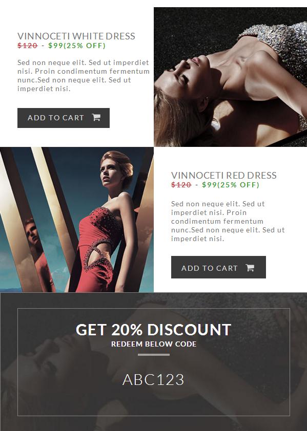 Multipurpose Market E-commerce Newsletter With Flat Design