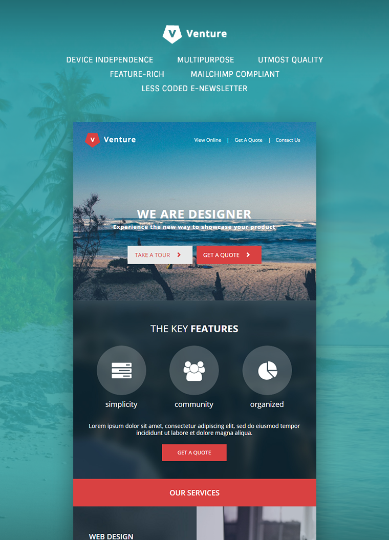 Venture Corporate E-Newsletter Template